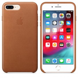 Leather case iPhone 7 Plus - Saddle Brown