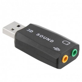 Adaptateur Audio USB TNB ADAUSB51 - Noir