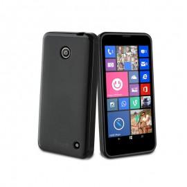 Etui en Silicone Muvit Noire: Nokia Lumia 630/635