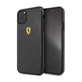 Coque Ferrari Effet Carbone Pour iPhone 11 Pro Max  Noir Tunisie