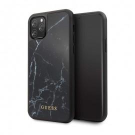 Etui iPhone 11 Pro GUESS Effet Marbre - Noir