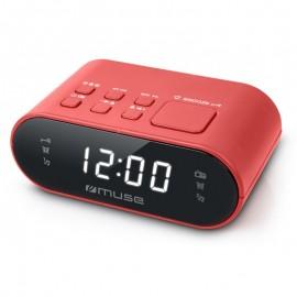 Radio Réveil MUSE PLL - Double Alarme - Rouge