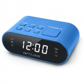 Radio Réveil PLL MUSE - Double Alarme - Bleu