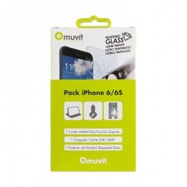 Film de protection verre Muvit IPhone 6/6S
