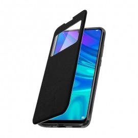 Etui Silicone Huawei Y5 (19)  Effet Cuir Noir