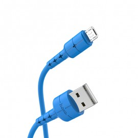 Câble USB vers Micro USB 1M HOCO - Bleu