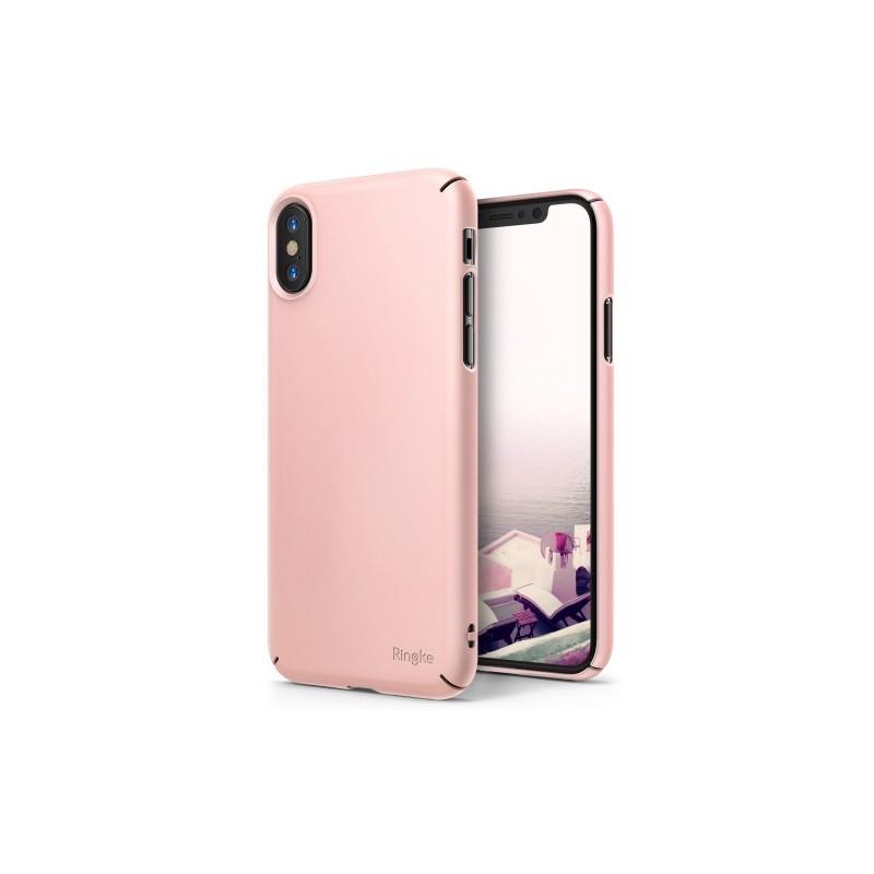 SILICONE IPHONE X ROSE TUNISIE