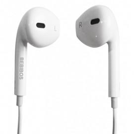 Ecouteurs Jack 3.5mm BEBIBOS BOS-ER02 CANDY - Blanc
