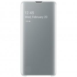 Etui Clear View Pour Samsung Galaxy S10 - Blanc Tunisie