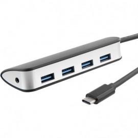HUB USB-C Vers 4 USB A 3.0 T'nB - Noir