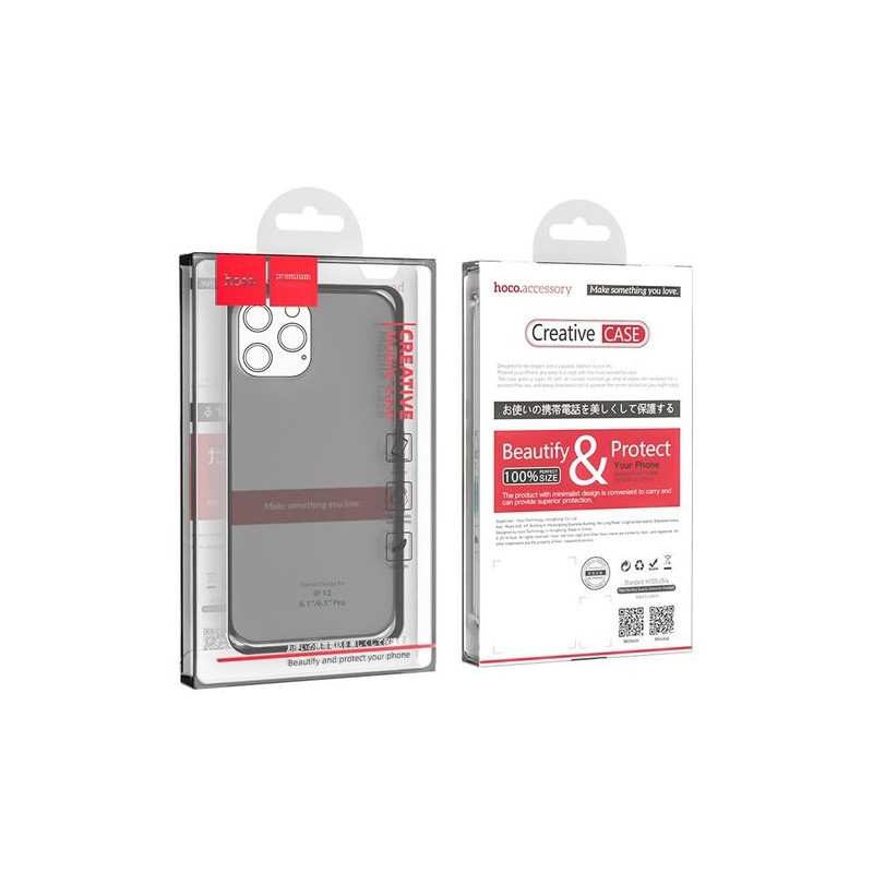 Coque hoco Thin iPhone 12 / 12 Pro - Transparente