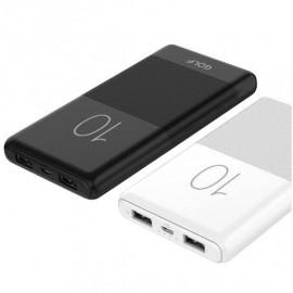 Power Bank GOLF G80 10000mAh Micro-USB 2.1A Fast Charging - Blanc