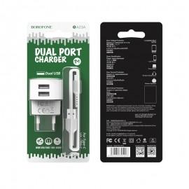 Chargeur Type-C BOROFONE BA23A 1M / 2.4A - Blanc