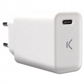 Adaptateur Secteur KSix USB Type-C - Blanc - Tunisia