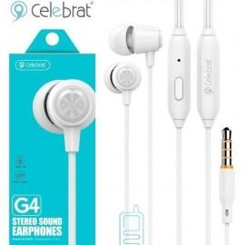 Écouteurs Celebrat Avec Microphone  - Blanc