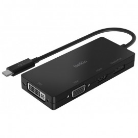 Adaptateur USB-C Belkin vers multiport HDMI, VGA, DisplayPort et DVI