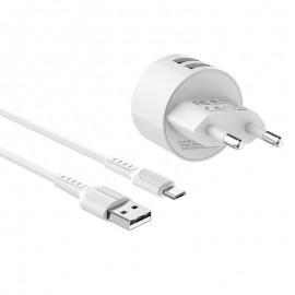 Chargeur Micro-USB Borofone Double Ports