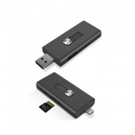 Lecteur Micro SD KSIX d'Extension iMemory Pour iPhone/ iPad / iPod