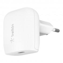 Chargeur Rapide Secteur Belkin USB-C 20W - Blanc