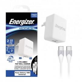 Chargeur Rapide Energizer USB-C 2.4A 2 Ports...