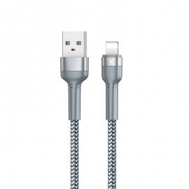 Câble Lightning Remax 1M / 2.4A - Gris