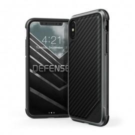 Etui iPhone X Defense Lux - X-Doria - Noir
