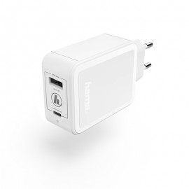 Chargeur Secteur 42Watts USB Type-C & USB-A -...